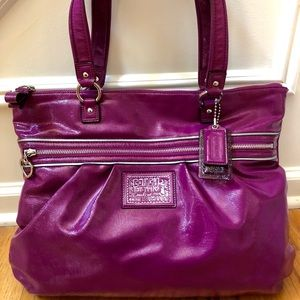 Coach Poppy Patent Leather Tote